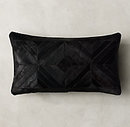 Online Designer Combined Living/Dining DIAMOND COWHIDE PILLOW  -  LUMBAR - 13