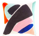 Online Designer Living Room Kate Spade New York by Jaipur Yorkville Abstract Art Throw Pillow
