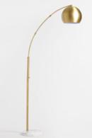 Online Designer Hallway/Entry Brass Arc And White Marble Hayden Floor Lamp SKU# 547143