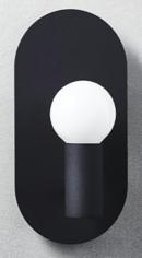 Online Designer Bedroom plate matte black wall sconce
