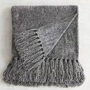 Online Designer Living Room Gray Chenille Throw