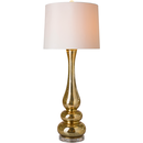Online Designer Combined Living/Dining Gold and White Wave Lamp