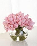Online Designer Bedroom Pink Tulip Faux Floral