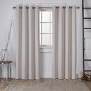 Online Designer Bedroom Tamara Solid Room Darkening Grommet Curtain Panels