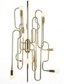 Online Designer Kitchen Stilnovo Trombone Chandelier - Gold LS1143S