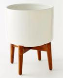 Online Designer Living Room Turned Wood Leg Standing Planter