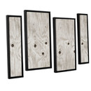 Online Designer Home/Small Office Wood Knot 4 Piece Framed Photographic Print on Canvas Set