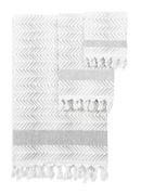 Online Designer Bathroom Scarlett 3 Piece 100% Cotton Towel Set