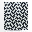 Online Designer Living Room Key Wool Dhurrie – Regal Blue 5'x8' (WestElm)