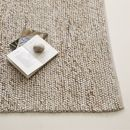 Online Designer Bedroom Mini Pebble Wool Jute Rug - Natural/Ivory