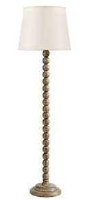 Online Designer Living Room Sloan Wood Ball Floor Lamp