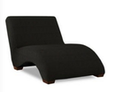 Online Designer Home/Small Office Celebration Chaise Lounge-Microsuede Onyx