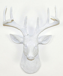Online Designer Bedroom White Faux Deer Head