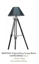 Online Designer Living Room BOSTON Tripod Floor Lamp Black