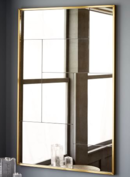Online Designer Combined Living/Dining Multi Panel Foxed Wall Mirror, Antique Brass, Large
