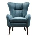 Online Designer Living Room Mid-Century Blue Velvet Armchair