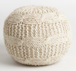 Online Designer Combined Living/Dining Taupe Heather Sweater Pouf
