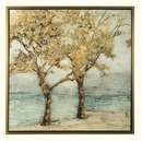 Online Designer Combined Living/Dining 'Baran' Framed Painting Print on Wrapped Canvas