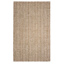 Online Designer Combined Living/Dining Hines Hand-Woven Brown/White Area Rug