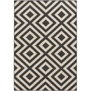 Online Designer Combined Living/Dining Alfresco Hand-Woven Black / Beige Outdoor Area Rug