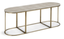 Online Designer Combined Living/Dining Faux-Shagreen Coffee Table, Brass/Ivory