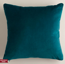 Online Designer Living Room Teal Velvet Throw Pillows
