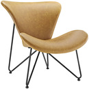 Online Designer Studio Tan Leather Chair