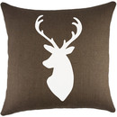 Online Designer Hallway/Entry Deer Burlap Throw Pillow