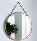 Online Designer Living Room Modern Hanging Oversized Mirror, Natural/Tan, 36