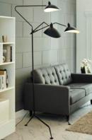 Online Designer Home/Small Office VIEW STAINLESS STEEL FLOOR LAMP IN BLACK