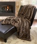 Online Designer Bedroom Aurora Home Oversized Faux Fur Coyote Throw