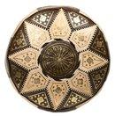 Online Designer Patio Marrakech Leather Pouf, Brown