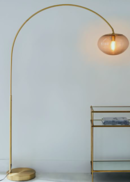 Online Designer Hallway/Entry Overarching Ripple Acrylic Floor Lamp
