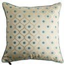 Online Designer Living Room Dotted Jacquard & Floral Pillow