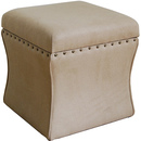 Online Designer Living Room Cinch Storage Ottoman w Nailheads