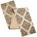 Online Designer Living Room Metallic Damask Jute Table Runner