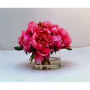 Online Designer Living Room Peonies in Small Glass Cylinder
