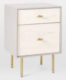 Online Designer Bedroom Modernist Wood + Lacquer Nightstand - Winter Wood