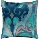 Online Designer Combined Living/Dining Blue Pattern Woven Pillow