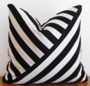 Online Designer Bedroom Decorative Pillow  Velvet Stripe Black Ebony by kassapanola