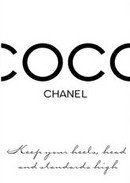 Online Designer Home/Small Office Chanel Fashion Quote Poster.