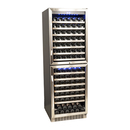 Online Designer Kitchen EdgeStar 155 Bottle Double Door Dual Zone Wine Cooler
