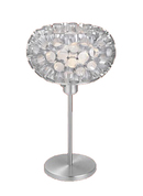 Online Designer Bedroom EGLO Rebell Aluminum and Crystal Foil One-Light Table Lamp