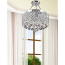 Online Designer Bedroom Nerisa 4-light Chrome Semi-flush Mount Crystal Chandelier