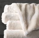 Online Designer Bedroom Oversized Luxe Faux Fur Bed Throw - Arctic Fox
