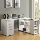 Online Designer Home/Small Office Monarch Specialties White Corner Desk