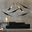 Online Designer Business/Office Fly Modern Freely Hanging Single Light Finished in Black Gold