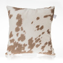 Online Designer Living Room Happy Trails Tan Cow Pillow