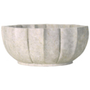 Online Designer Living Room Noir White Marble Bowl Large