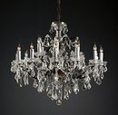 Online Designer Combined Living/Dining 19TH C. ROCOCO IRON & CLEAR CRYSTAL ROUND CHANDELIER